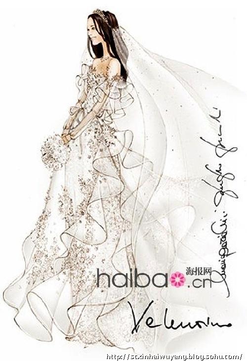 時尚裙子設計手稿素描圖