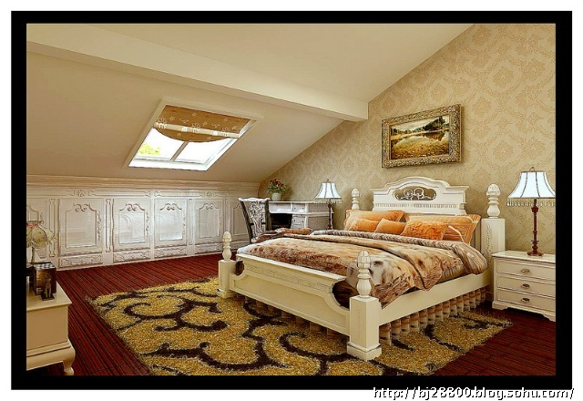 12万装金色漫香林200平简约大气欧式风格复式设计