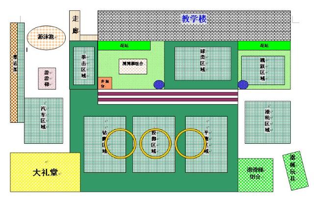 画给老师的共享的幼儿园草地平面图图片