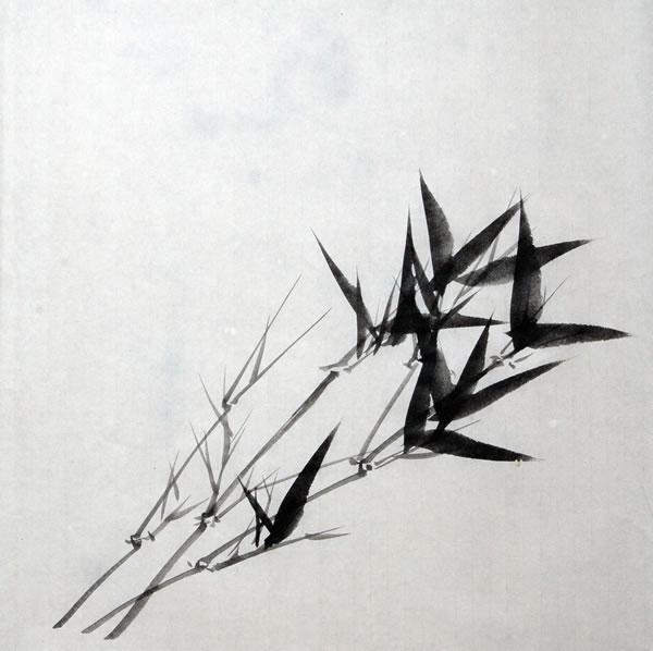 怎样画水墨竹之三:墨竹组合画法