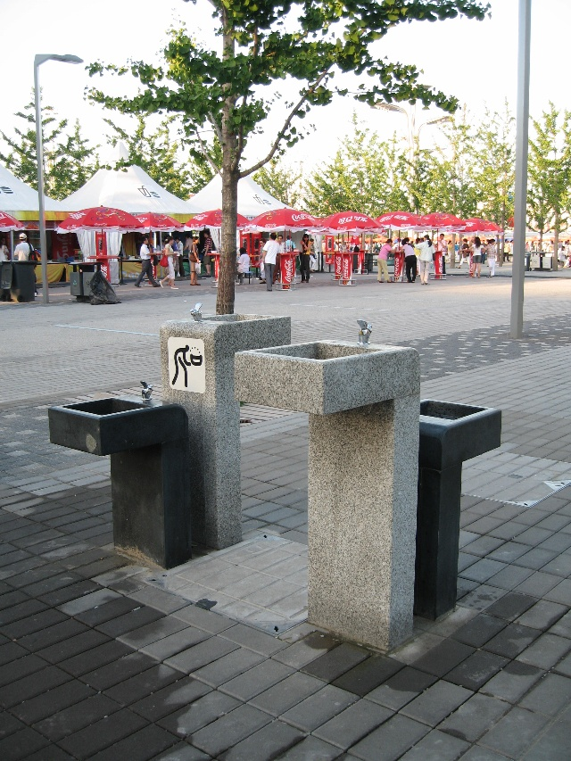 公园洗手池手绘