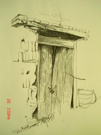 速写农村房子