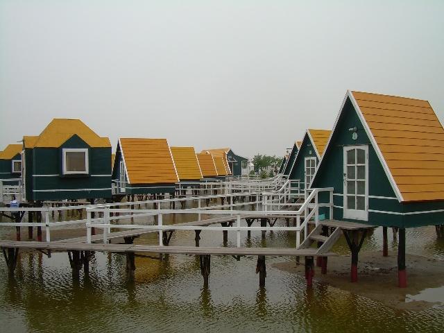 乐亭月陀岛的荷兰小木屋
