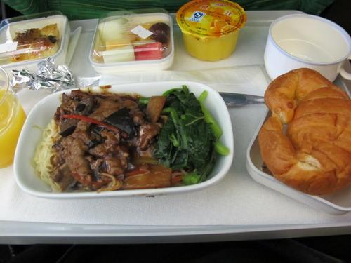 飞机上的饭