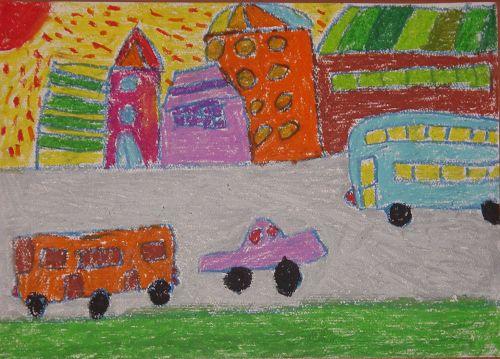油画棒天空儿童画幼儿园中班油画棒画幼儿园小班油画