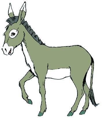 驴子与农夫矢量图