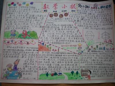 制作小学生数学小报