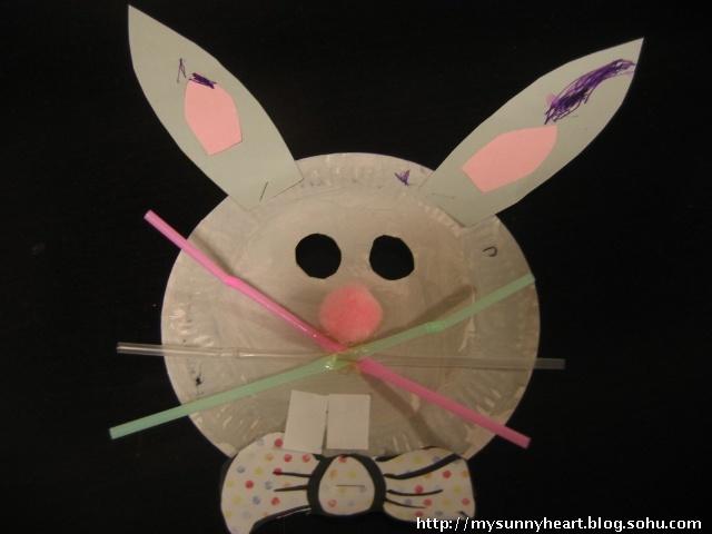 兔子手工面具制作步骤图解