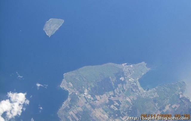 飞机上鸟瞰美丽的欧洲