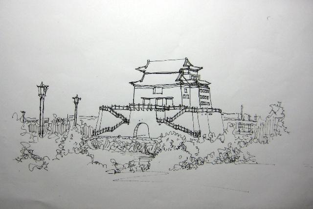 园林景观手绘图速写