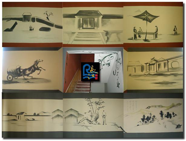石家庄手绘墙 墙体彩绘 长江画艺