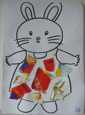 学习动物的叫声,给小兔子穿上花衣裳等