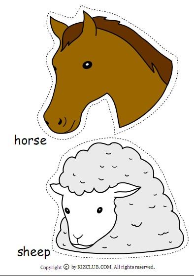 动物小羊简笔画大全; 育手记--给小动物喂食物(5次活动案例及动物头饰