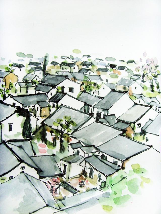 苏州单体风景速写